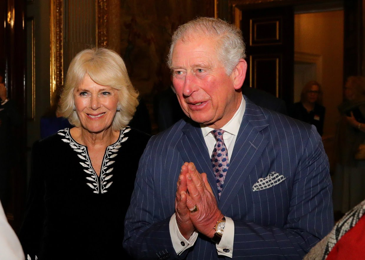 Image: Britain's Prince Charles and Camilla, Duchess of Cornwall attend the Commonwealth Reception at Marlborough House, in London